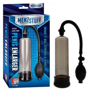 pompa pentru a îmbunătăți erecția cu o erecție, penisul este îndreptat în jos